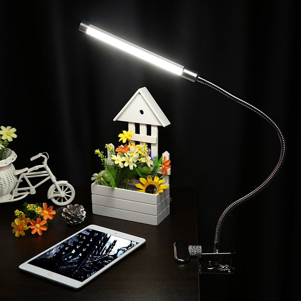 18LED USB Clip Table Portable Lamp Dimmable Bedside Desk Lamps Desk Office Book Table Flexible Light Decoration Home Lamps