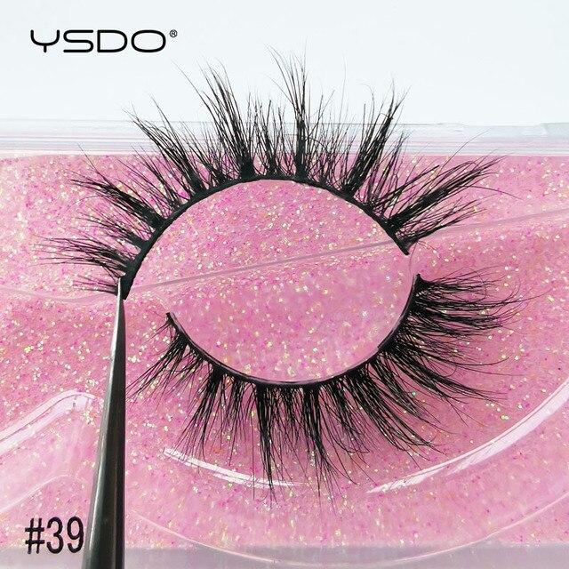 YSDO 1 Pair 3D Mink Eyelashes Cruelty Free Lashes Fluffy Full Strip Thick False Eyelashes Cils Makeup Dramatic Real Mink Lashes 5