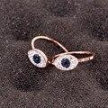 Корейские модные ювелирные изделия из розового золота 14 к, кольца в стиле панк для женщин, дизайнерские блестящие циркониевые кольца с микр...