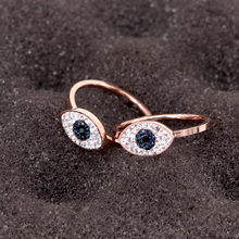 Korean Trendy 14k Rose Gold Jewelry Punk Rings for Women Design Micro Inlay AAA Shiny Zircon