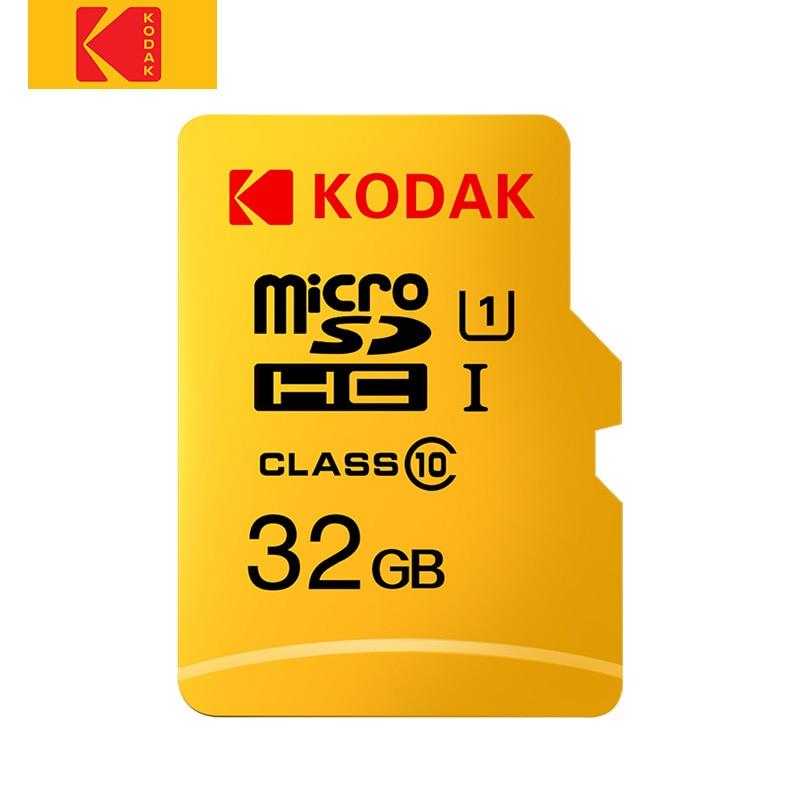 KODAK Micro SD de 128GB 64GB tarjeta de memoria de 32GB 16GB U1 tarjeta Micro sd de 4K U3 256GB cartao 512GB de memoria de tarjeta TF tarjeta de memoria Class10
