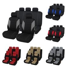Чехлы для автомобильных сидений с подушкой безопасности, совместимые с большинством автомобилей, грузовиков, внедорожников или фургонов, дышащие с 2 мм композитной губчатой полиэфирной тканью