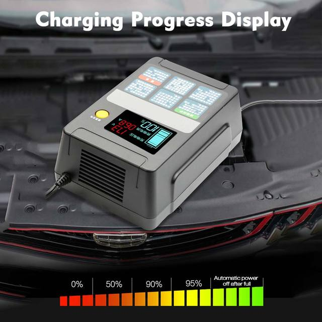 12 V/24 V Full Automatic Car Battery Charger Smart Fast Power Charging Pulse Repair Chargers Wet Dry Lead Acid Battery-charge