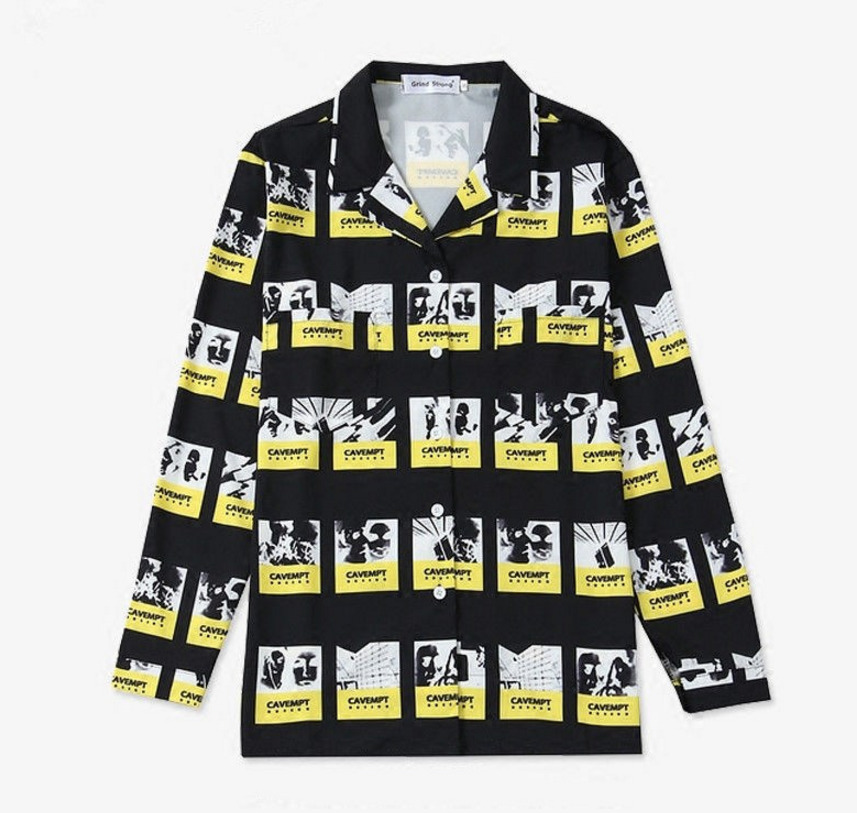 Kpop new bangtan boys suga same shirt female male unisex long sleeve loose Korean chic young group spring autumn shirt(China)