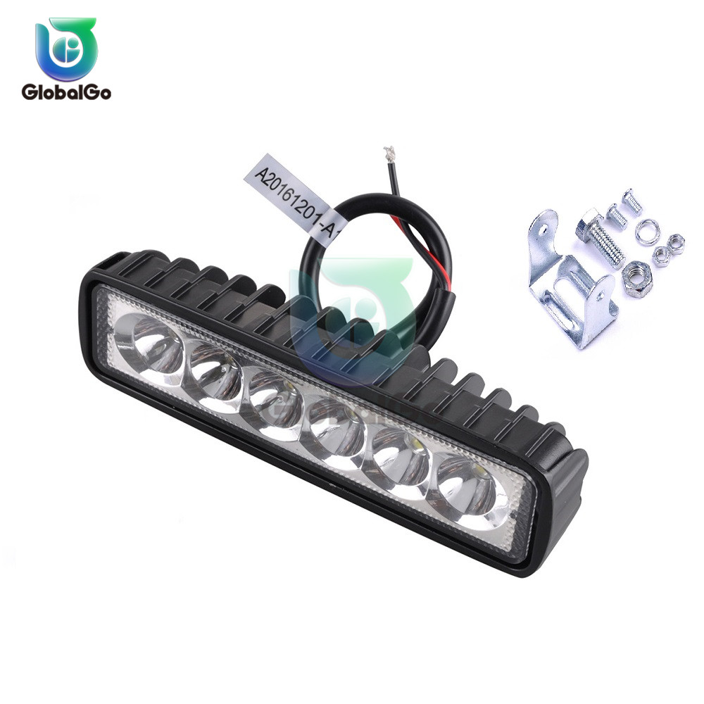 18W 6LED DC 12V LED Car Headlight Bulbs Accessories 800LM 6500K-7500K Car Motorcycle Bike Driving Daytime Running Light Lamp