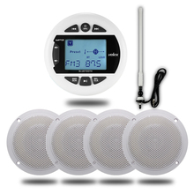 Mp3-Player Speakers Boat-Antenna Audio Stereo-Radio Marine Waterproof FM for ATV UTV