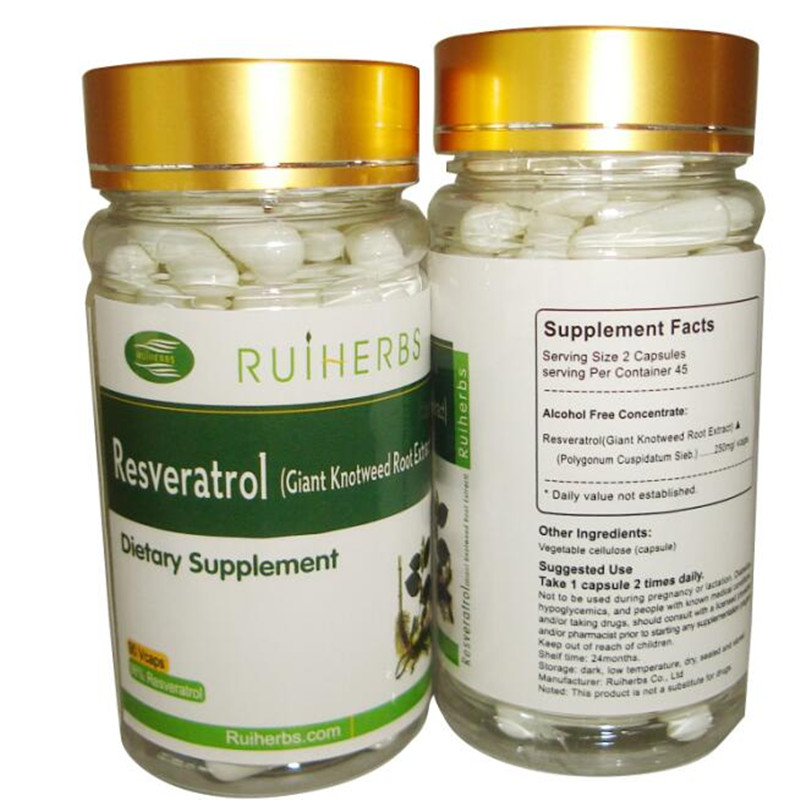 Pure Resveratrol 98% Max Strength (90 PCS/1Bottle) Antioxidant, Natural Weight Loss, For Anti-Aging