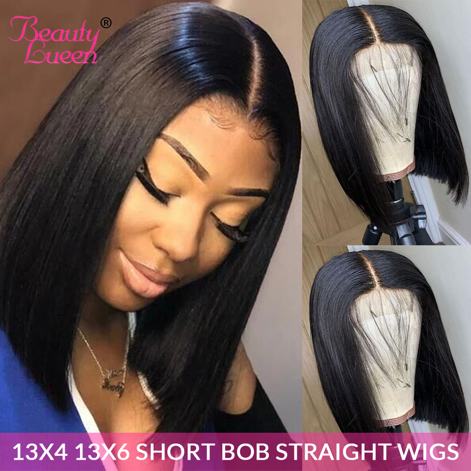 Hd Transparent 13*6 Short Lace Front Human Hair Wigs Peruvian Wig Straight Lace Front Wig Pre Plucked Hairline With Baby Hair