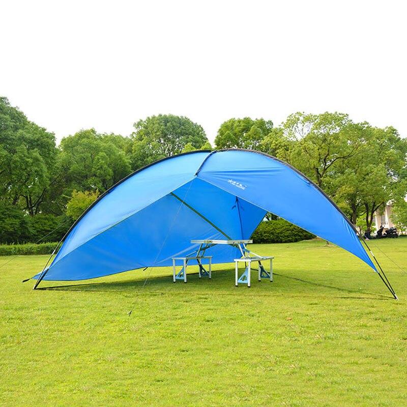 Ultralarge 4 6 человек использовать водонепроницаемый ветрозащитный Анти УФ солнцезащитный тент Кемпинг палатка большая беседка|sun shelter|sun shelter campingcamping shelters tents | АлиЭкспресс