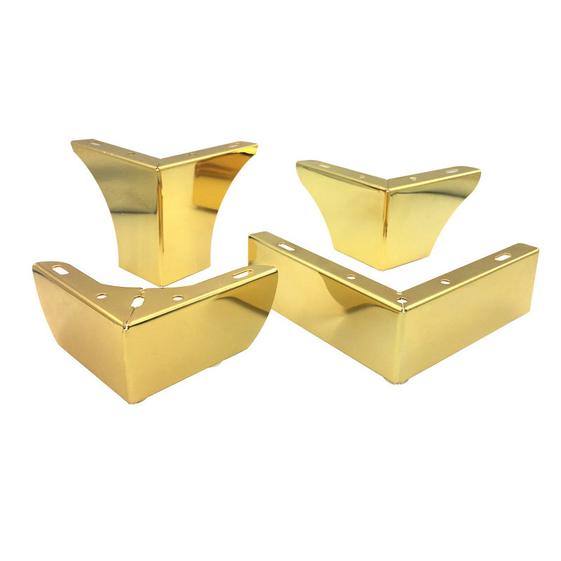 1PC Gold Square Straight Furniture Leg Accessories Hardware Tube Legs Metal For Table Legs Sofa Bed Cabinets TV Cabinet  Legs