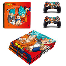 Son Goku Style Skin Sticker for PS4 Pro Console And Controllers Decal Vinyl Skins Cover YSP4P-3293