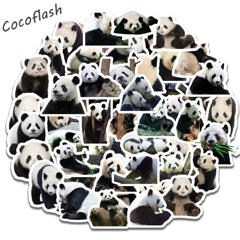 50pcs/set Panda Cartoon Stickers Funny Mexed Stickers For Mobile Phone Laptop Scrapbook Writing Desk Skateboard Diy Toy(China)