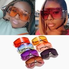 Wholesale Rimless One Piece Shield Sunglasses For Women Vint