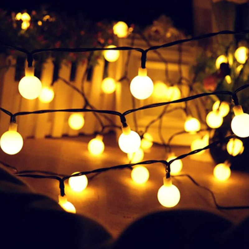 5M 10M LED Solar Ball Garland Lights String Waterproof Outdoor Lamp Holiday Wedding Party Baby Bed Fairy Lights Decoration(China)