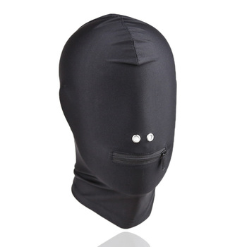 Adult Games Exotic Accessories Full Head Mask With Zipper Fetish Slave BDSM Bondage Restraints Hood Mask Sex Toys For Couples