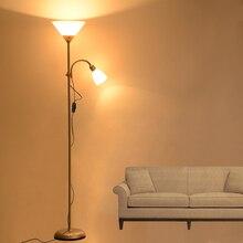 Напольные светильники в американском стиле, современные, окрашенные железом, регулируемые, E27, светодиодный, 220 В, новинка, напольные светиль...