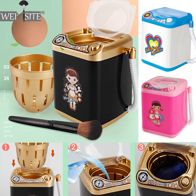 Mini Electric Makeup Brush Cleaner Washing Machine Electric Cute Toy Cosmetic Brush Powder Puff Washer Beauty Cleaning New Tool