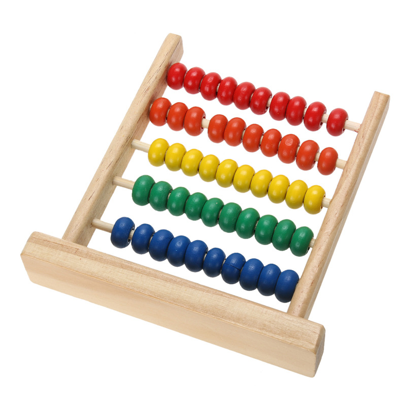 Educational Kids Math Toy Wooden Abacus Toy Math Learning Toy Calculation Abacus Montessori Beads Toys