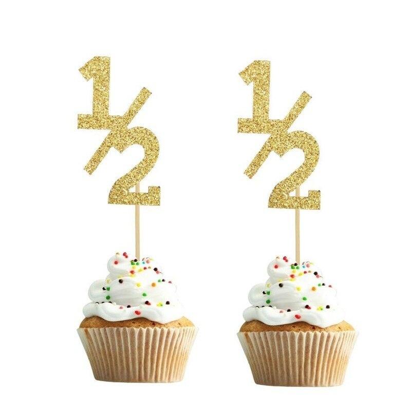 10 шт., Бумажные Формочки для торта на половину года, 6 месяцев