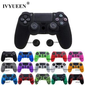 Image 1 - Противоскользящий силиконовый чехол IVYUEEN для контроллеров Sony PlayStation Dualshock 4 PS4 DS4 Pro Slim и стиков захвата, 25 цветов