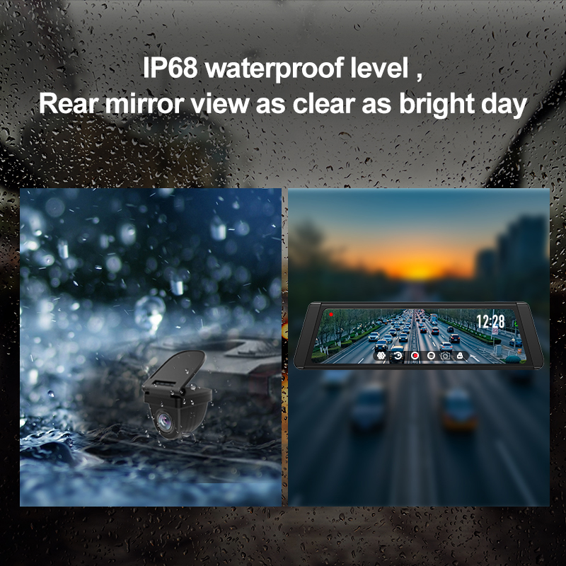 JADO Dash Cam DVR T650C Stream Rearview Mirror IPS Car DVR Video Recorder1080P HD Driving Video Dashcam Car Camera 5