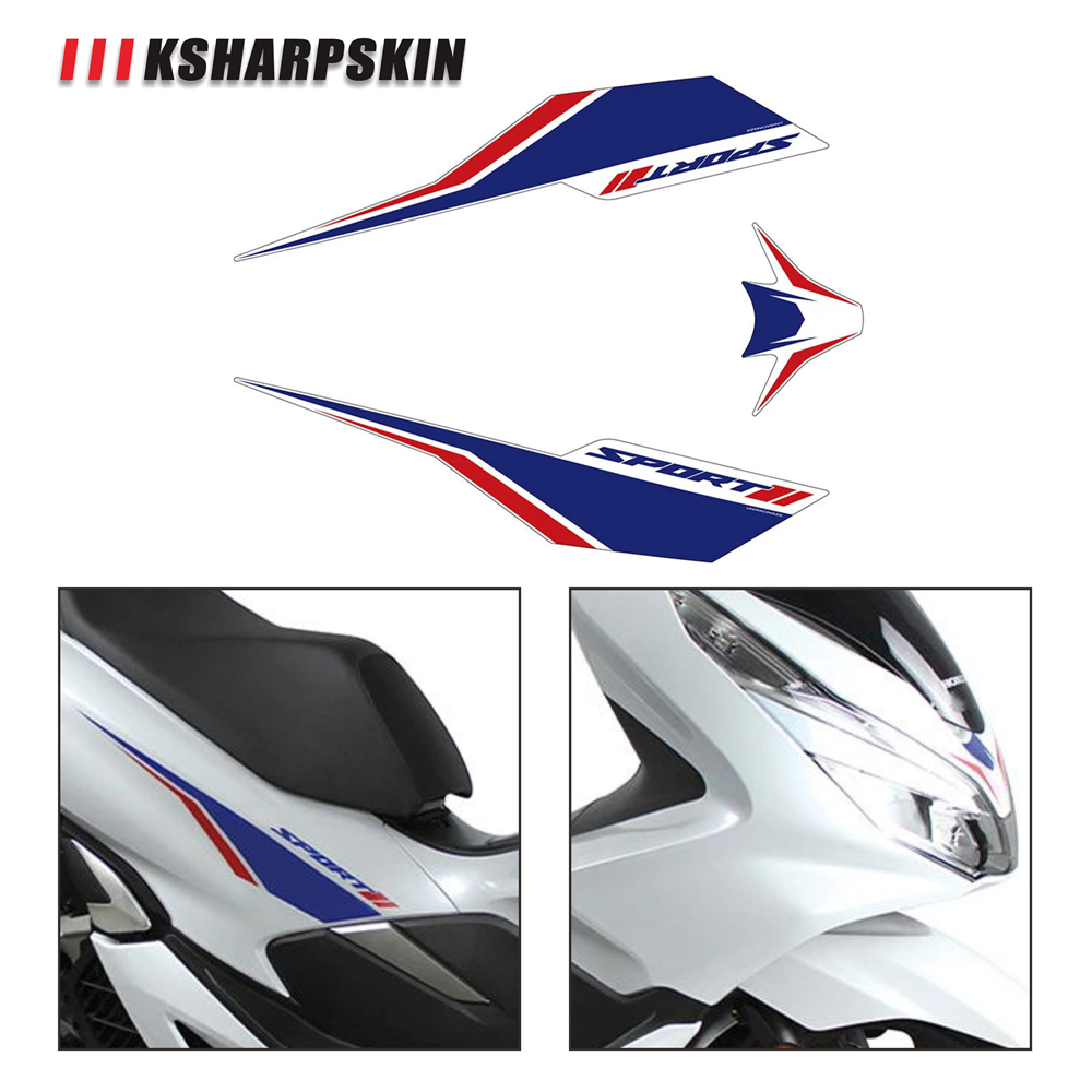 Motorcycle Front Sticker Waterproof Protection Body Reflective Decal Modified Decorative Film For Honda Pcx 125 150