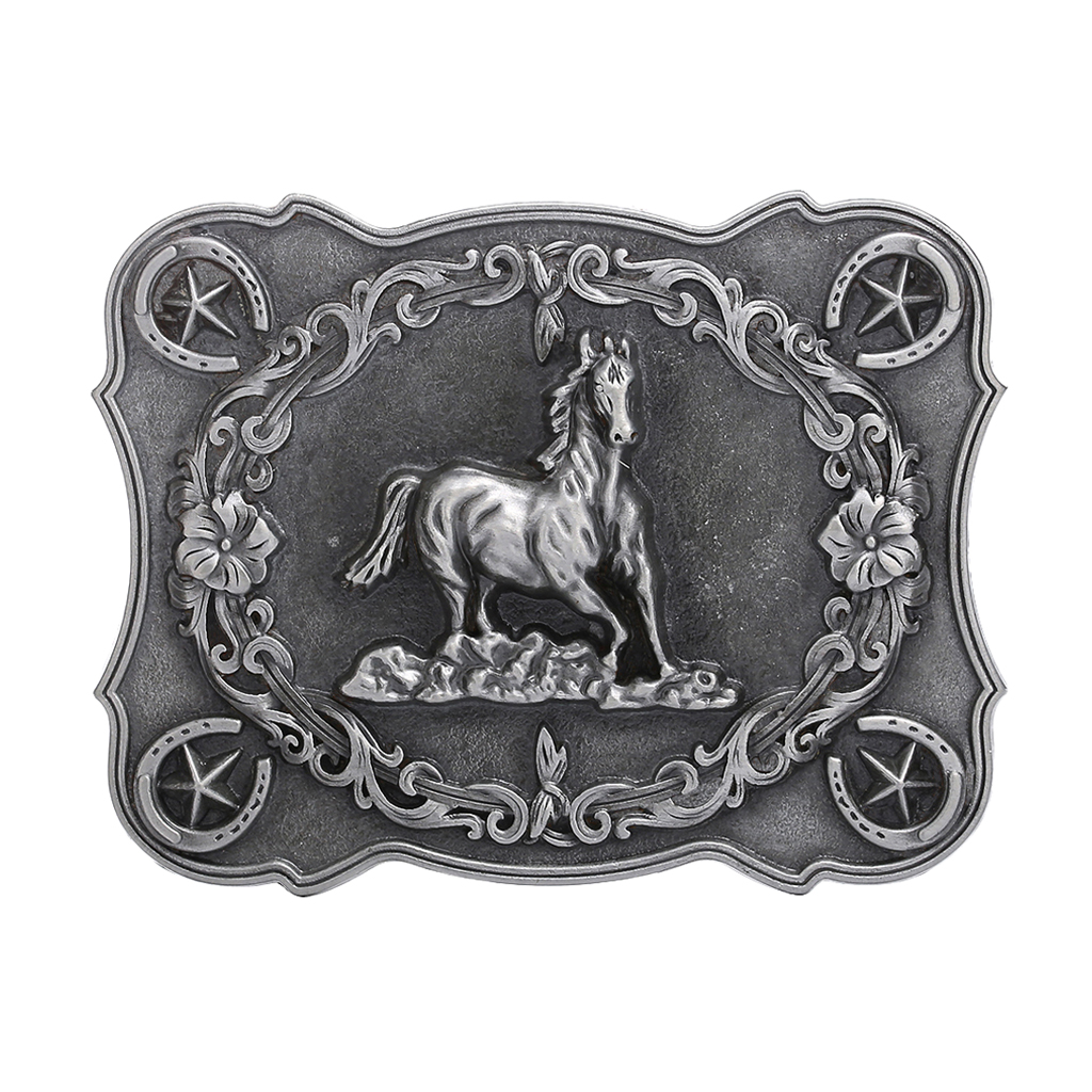 Men's Classic Retro Style Buckle Carved Horse Cowboy Western Belt Buckle Jeans Cool Belt Accessory For 3.6-3.9cm Wide Belt