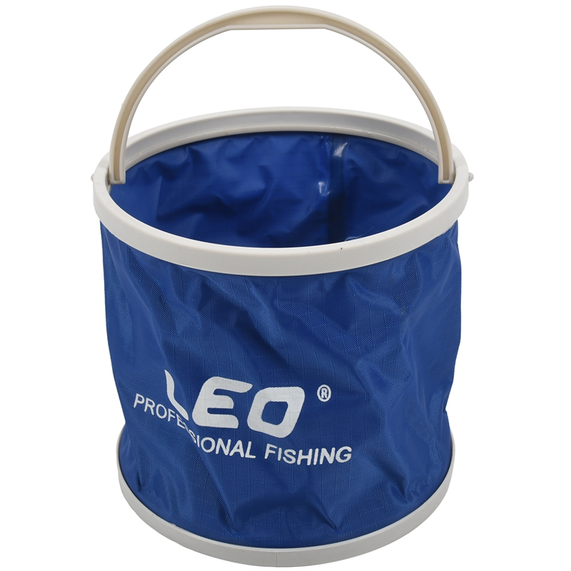 LEO Outdoor Canvas Bucket Folding Bucket Portable Camping Hiking Fishing Bucket Fishing Tackle Tools blue|Fishing Tackle Boxes|Sports & Entertainment - title=