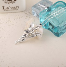 Movie and TV Creative Elf Princess Necklace Crystal Silver Cube Pendant Fashion Jewelry Ms. Gifts Preferred