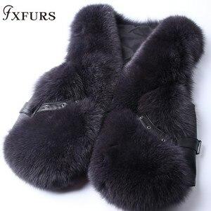 Image 4 - 2020 New Real Fox Fur Coat Vests Short Design Ladies Winter Fashion Fur Waistcoats with Leather Rivet Fur Gilets Jackets Warm