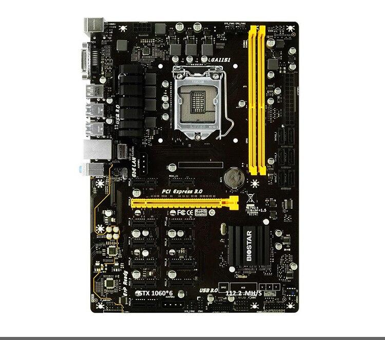 New BIOSTAR TB250-BTC PRO Motherboards 12PCIE B250 LGA 1151 DDR4 ATX BTC Mining Motherboard (alternative H81 BTC PRO TB85 H81)-1