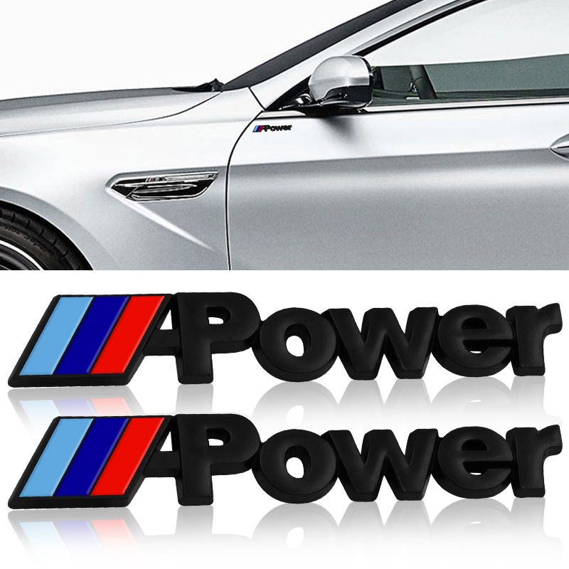 2 Pcs Car Side <font><b>Emblem</b></font> Rear Trunk Badge Decal <font><b>Sticker</b></font> For <font><b>bmw</b></font> M <font><b>Sticker</b></font> X1 X3 X4 X5 X6 X7 e46 e90 f20 e60 e39 <font><b>f10</b></font> Car accessories image