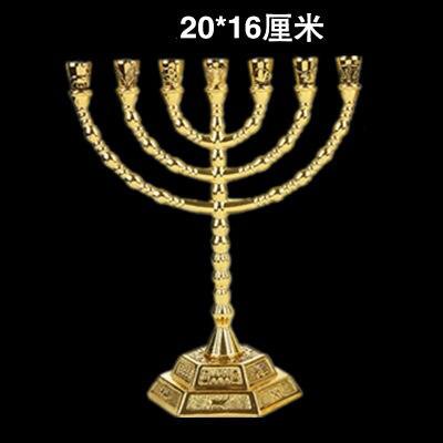 Христос Иисуса Золотой фонарь маятник подсвечник церковный стол украшение стола образец Сакральная статуя церковные принадлежности - Цвет: b