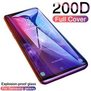 Image 1 - 200D Tam Kavisli Temperli Cam Samsung Galaxy S9 S8 Artı Not 9 8 Ekran Koruyucu Samsung S7 S6 kenar S9 koruyucu film