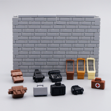 City Figures Accessories Building Blocks Shoulder Bags backpack briefcase Police Soldier pack Bricks Toys compatible with lego cheap Unisex 6 years old Certificate friends military ww2 parts building Medical pack do not eat Plastic City military accessories building blocks toys