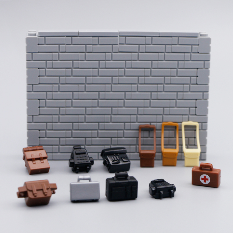 LegoINGly City Figures Accessories Building Blocks Shoulder Bags Backpack Briefcase City Police Military Soldier Pack Bricks Toy
