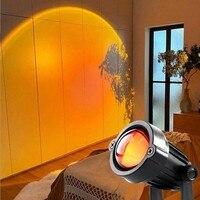 Lámpara de proyección de atardecer de arcoíris con Usb, luz LED nocturna de ambiente para casa, cafetería, proyector de interior, luces decorativas para exterior