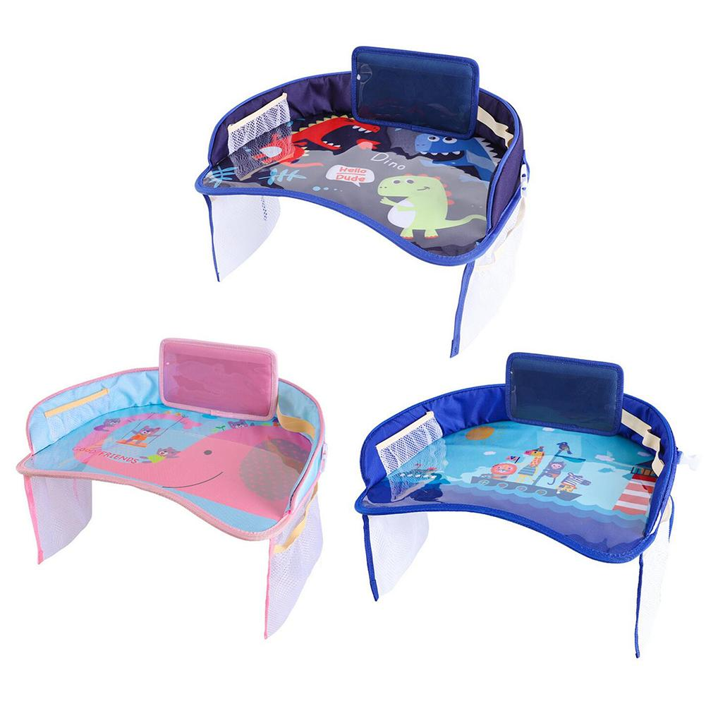 Car Safety Seat Plate Multi-Function Baby Eating Painting Table Waterproof Baby Stroller Cartoon Table Tray
