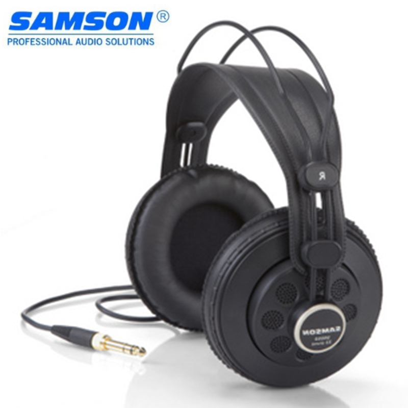 Original Samson Sr850 Professional Monitor Headset Wide Dynamic Semi-open-back Studio Reference Headphones For Musician DJ image