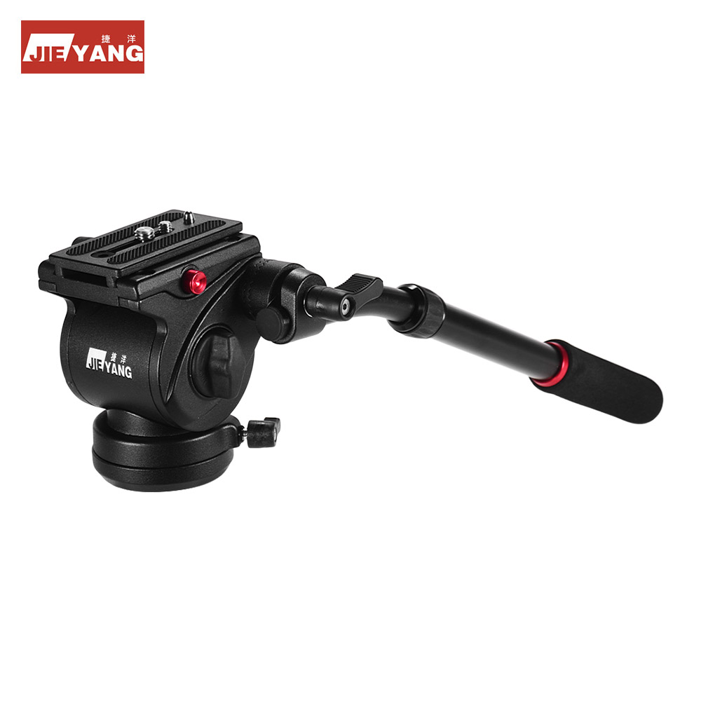 JIEYANG Professiona Fluid Video Head Tripod Head with Handle for Tripod Monopod Slider for Canon Nikon Sony DSLR ILDC Camera
