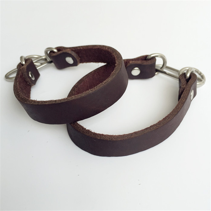 Genuine Leather Pet Collar 3 Mm Cowhide Cat Dog Traction Belt Pet Supplies