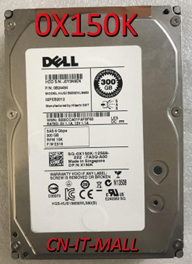 Вытяжной жесткий диск 0X150K X150K HUS156030VLS600, 300 ГБ, 15000 об/мин, 16 Мб кэш-памяти, SAS 6, 3,5 дюйма, для предприятий