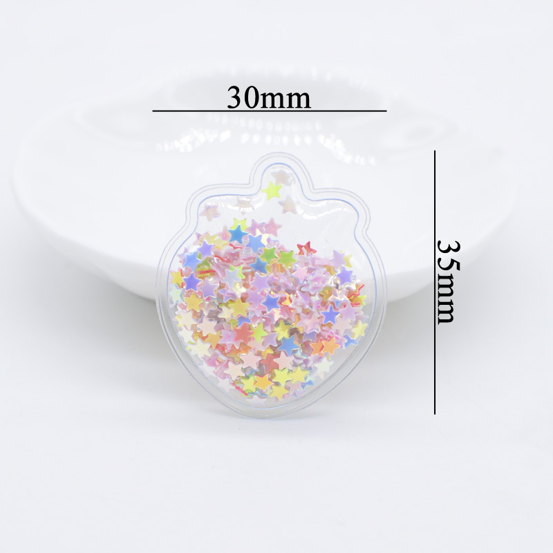 32Pcs/lots Mini Strawberry Appliques Shake Star Patches Fashion Baby Girls Headwear Accessory Stick On Hat Shoes Crafts Material