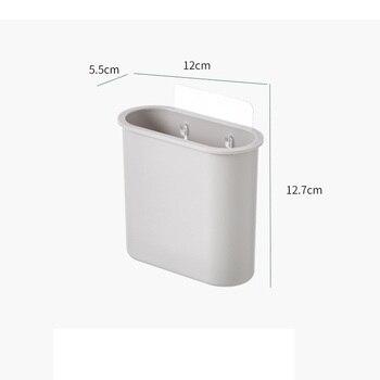 Simple Nordic Style Bathroom Shelf Storage Shampoo Holder Seamless Wall Mounted Adhesive Storage Rack Hook Bathroom Accessories 2