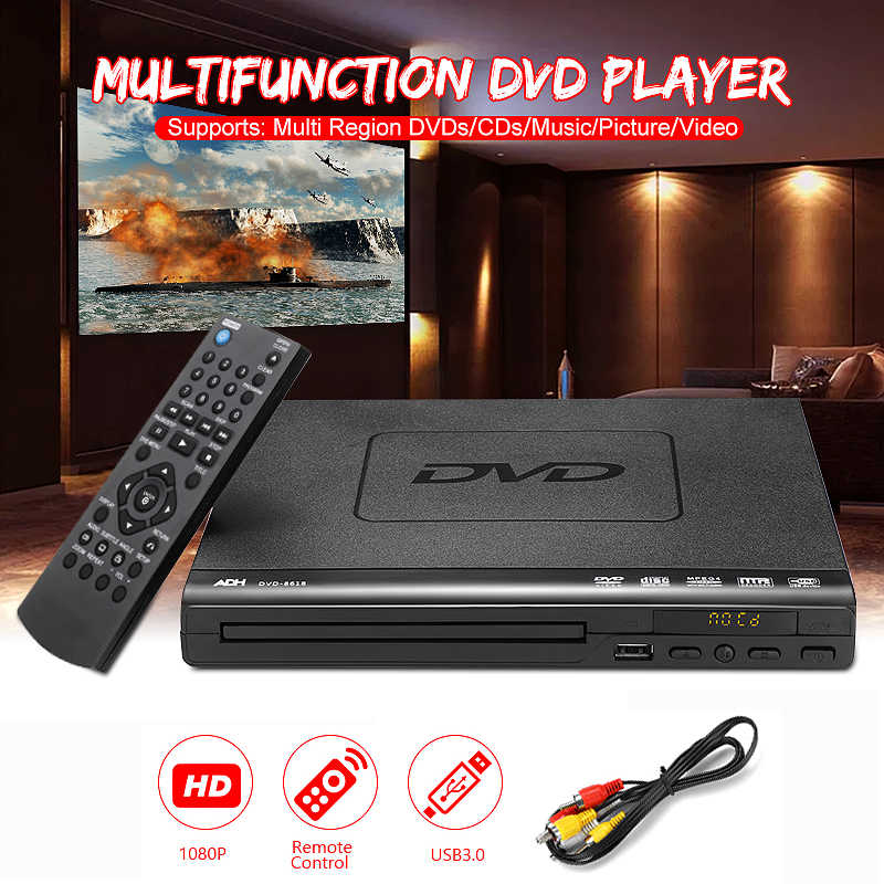 Thuis Hd Dvd-speler Multimedia Digitale Tv Ondersteuning Usb Dvd Video/Dvd + Rw Cd Audio/Vcd/svcd Jepg/MP3/Wma/Disc Home Theatre-systeem