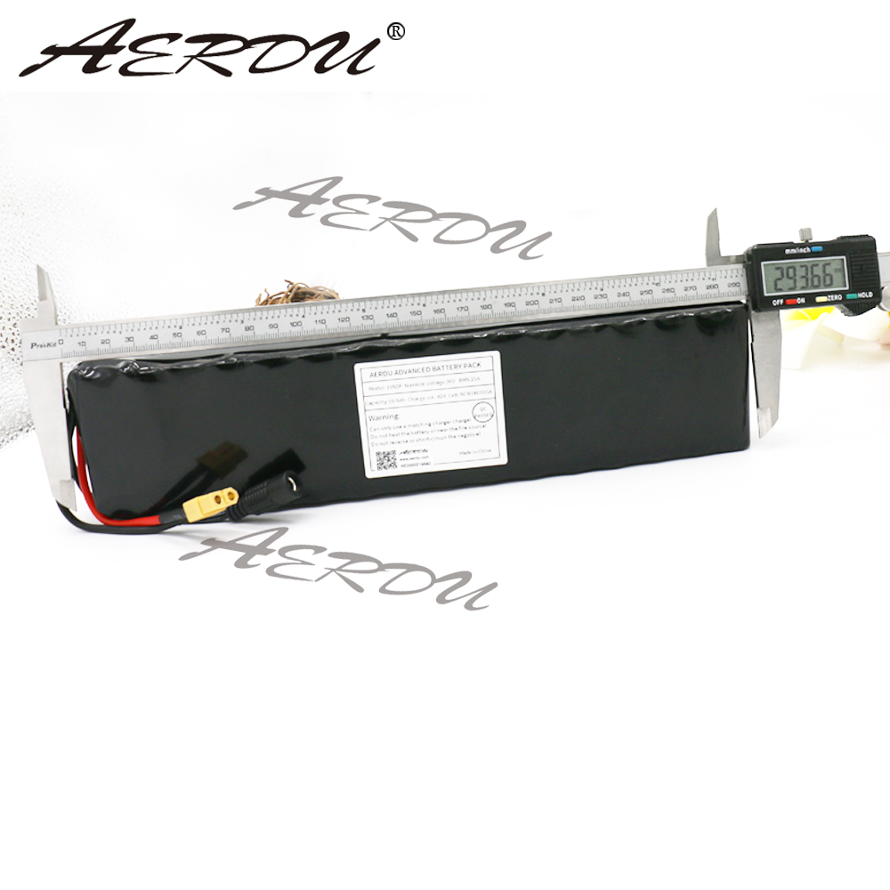 AERDU 10S3P 10 5Ah 36V High power capacity 42V 18650 lithium battery pack ebike electric car bicycle motor scooter with 20A BMS in Battery Packs from Consumer Electronics