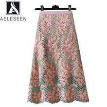 AELESEEN Runway Fashion Slim Skirt 2020 High Quality Women Elegant Luxury Spring