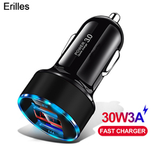 Quick Charge 3.0 Car Charger For Samsung S10 S9 Plus Universal Fast Charging For Huawei iPhone Car-Charger Mobile Phone Chargers mobile phone chargers deppa 410204 quick fast accessories telecommunications usb for car