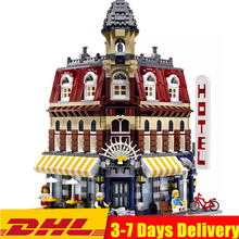 Classic Expert Model Creator City Cafe Corner House Shop Street Building Blocks Sets Bricks Kids Kits Toys Children Compatible lepin 17006 928pcs kirk s house rare limited edition model building kits set blocks bricks lepins toys clone 4000007