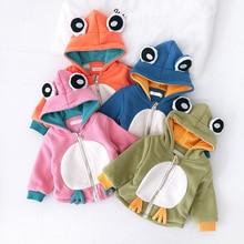 Baby's newborn Plush zipper cartoon cotton coat autumn and winter new boys and g
